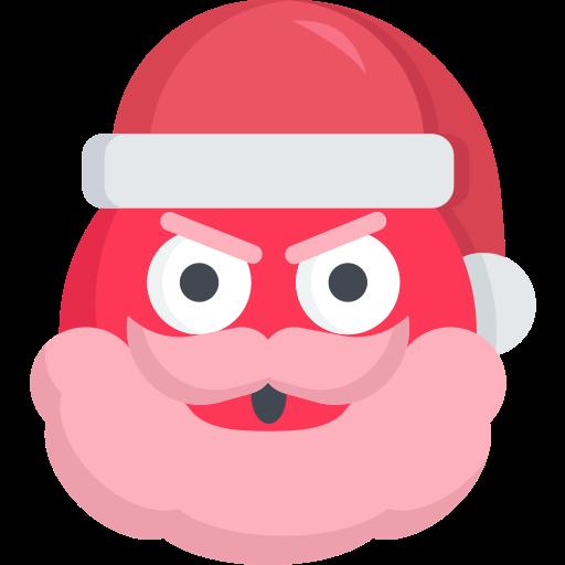 angry, christmas, emoji, mad, santa icon