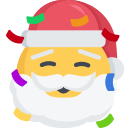 christmas, emoji, excited, party, santa