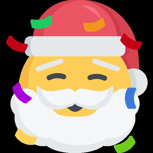 Christmas, emoji, excited, party, santa