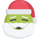 christmas, emoji, ill, santa, sick icon