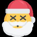 christmas, dead, death, emoji, santa icon