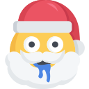 christmas, dribble, emoji, santa, silly