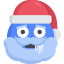 christmas, cold, emoji, freezing, santa