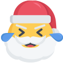 christmas, emoji, laugh, laughing, santa
