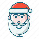 christmas, emoticon, santa, smile icon