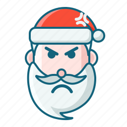 angry, christmas, emoticon, santa icon