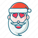 christmas, emoticon, lovely, santa icon