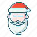 christmas, emoticon, poker face, santa icon