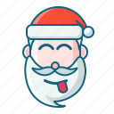 christmas, emoticon, joking, santa icon
