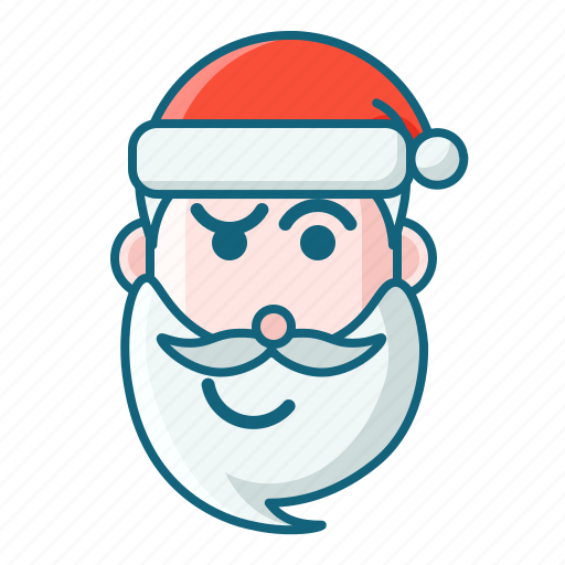 christmas, confuse, emoticon, santa icon