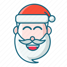 christmas, emoticon, santa, smile icon