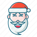 christmas, emoticon, fake smile, santa icon