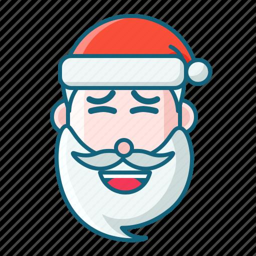 christmas, emoticon, fake smile, santa icon