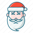 christmas, disgusting, emoticon, pain, santa icon