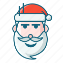 christmas, emoticon, santa, weird icon