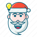 christmas, emoticon, idea, santa icon