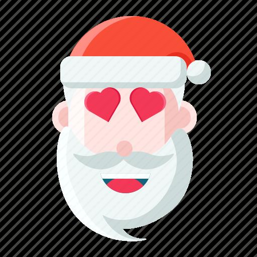 christmas, emoticon, lovely, santa icon