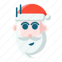 christmas, emoticon, santa, shock