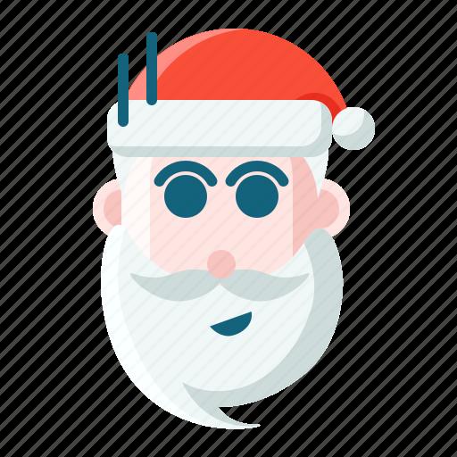Christmas, emoticon, santa, shock icon - Download on Iconfinder