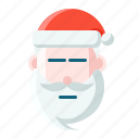 christmas, emoticon, no face, santa icon