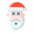 christmas, emoticon, ko, santa icon