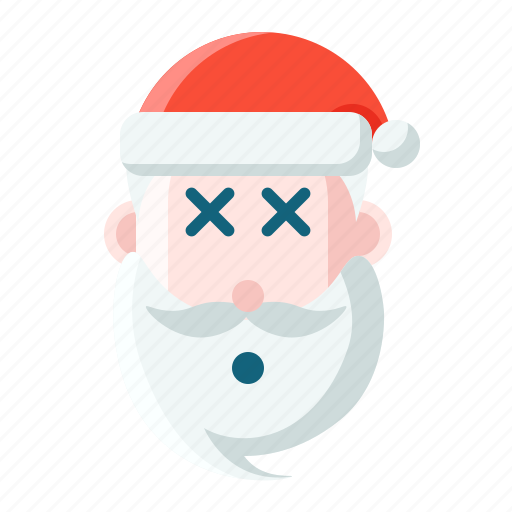 christmas, emoticon, ko, santa icon