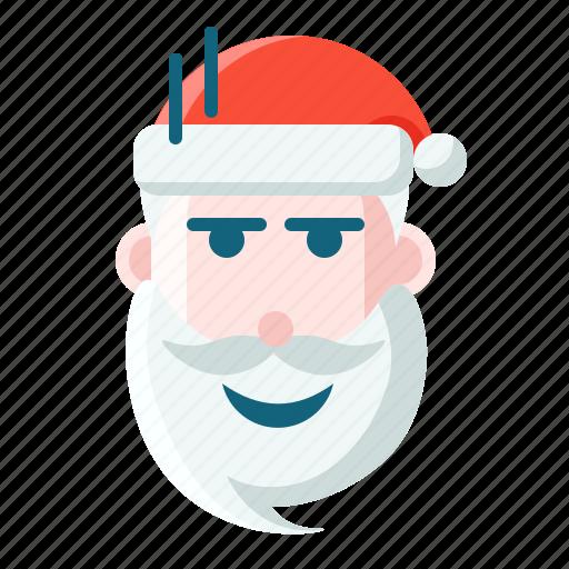 christmas, emoticon, santa, weird icon