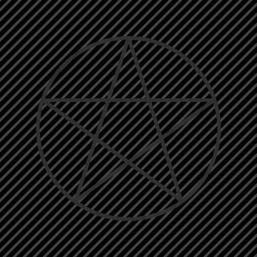 Evil Symbol Inverted Pentagram Pentagram Satanism Icon