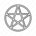 cult, inverted pentagram, pentagram, star icon