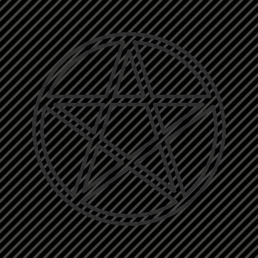 cult, inverted pentagram, pentagram, star icon