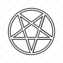 evil symbol, inverted pentagram, pentagram, star icon