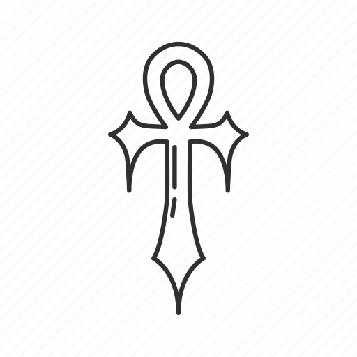 ankh, cross, cult, evil symbol icon