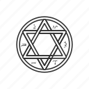 cult, evil, inverted pentagram, star icon
