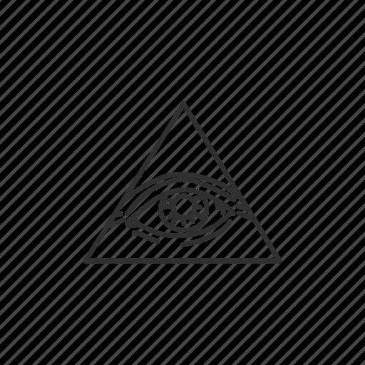 illuminati, one eye, triangle, yarmulke icon
