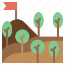 forest, landscape, nature, pines, trees, woodland, woods icon