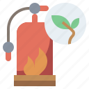 emergency, extinguisher, fire, firefighting, ire, protect, protection, safety, save, secure icon