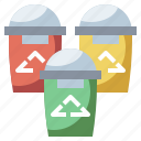 arrows, bin, can, garbage, recycle, trash, waste