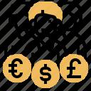 brokerage, currency, dealer, exchange, firm icon