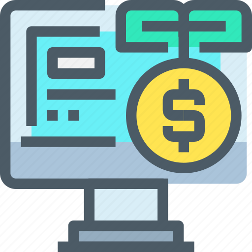 Banking, coin, computer, investment, money icon - Download on Iconfinder