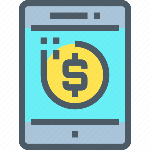 Banking, coin, investment, money, saving, smartphone icon - Download on Iconfinder