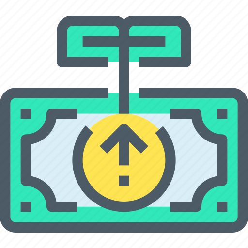 Arrow, banking, coin, finance, investment, money icon - Download on Iconfinder