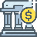 banking, building, coin, investment, money, saving icon