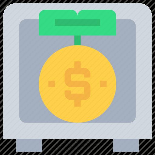 bank, coin, investment, money, safe, saving icon
