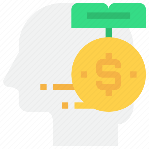 bank, coin, head, investment, money, saving icon