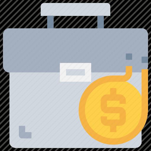 bag, bank, case, coin, investment, money icon