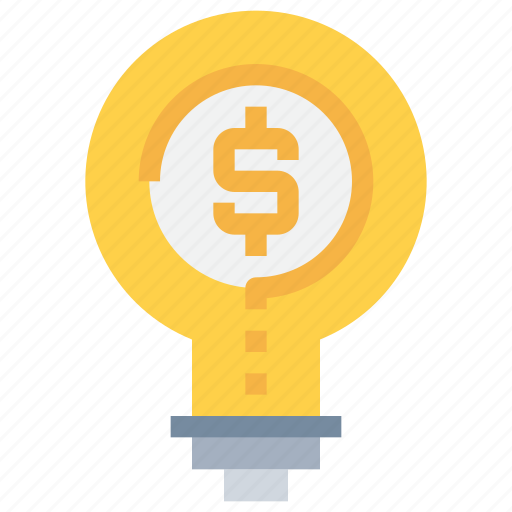 bank, coin, creative, financial, idea, light, money icon