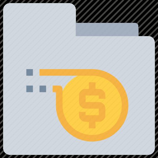 bank, coin, document, file, folder, money, saving icon