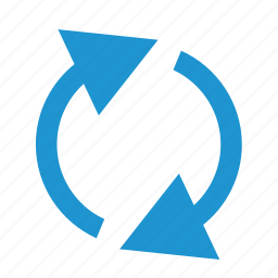 recycle, refresh, reload, renew, rotate, rotation, synchronize icon
