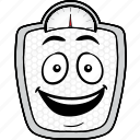 cartoon, emoji, scale, smiley, weightloss icon