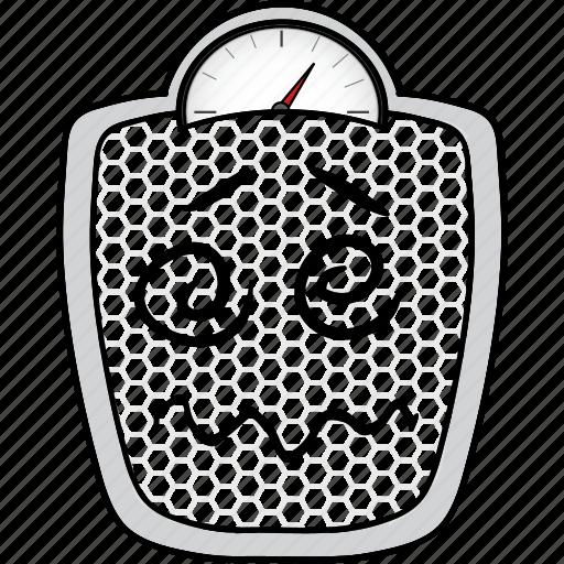 cartoon, emoji, scale, smiley, weightloss icon